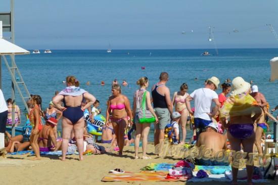 Анапа вторая половина июня городской пляж